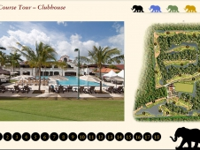 Club House and Golf Course Map